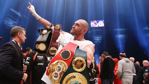 Tyson Fury belts