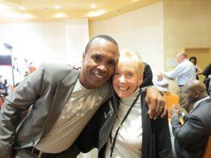 Sugar Ray Leonard and Barbara Pinnella