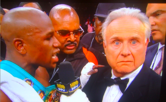 Floyd Mayweather vs Larry Merchant