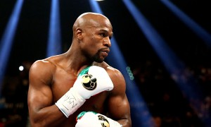 Floyd Mayweather Jr in Las Vegas for a fight described by Sugar Ray Leonard as 'about history'