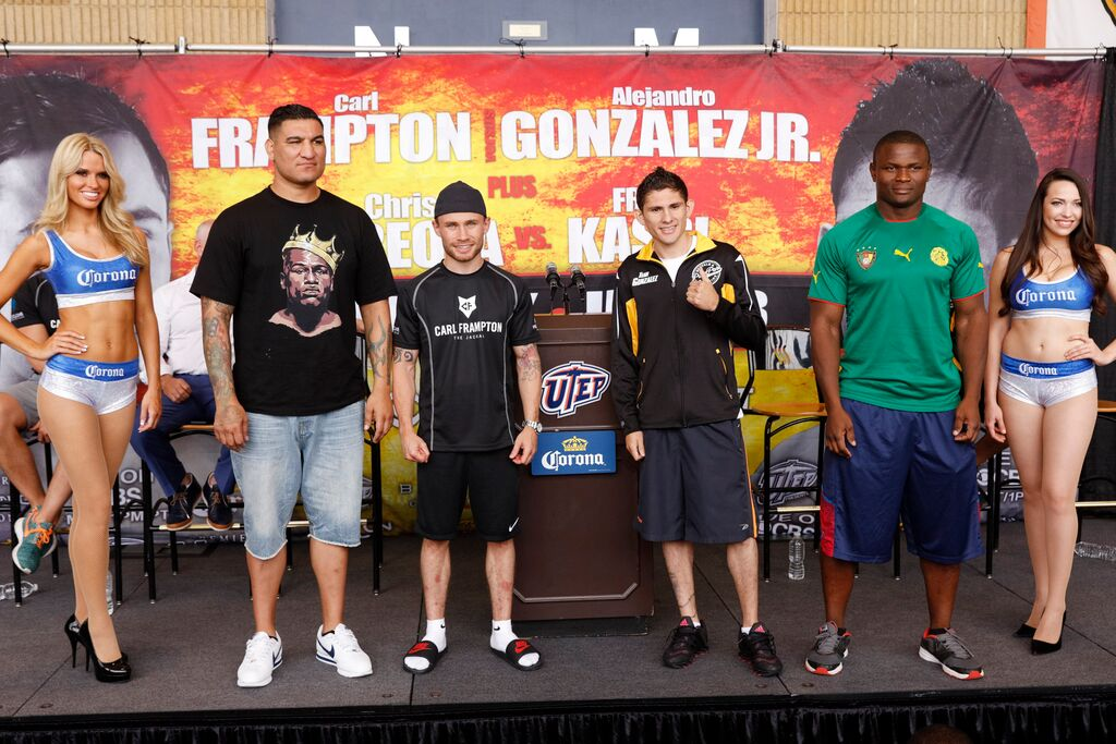 Frampton, Gonzalez, Arreola, & Kassi at presser