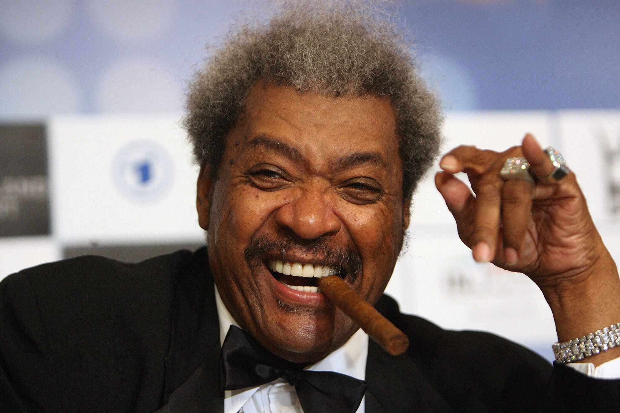 US boxing promoter Don King is pictured