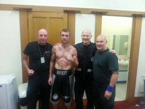 Shaun McShane with team