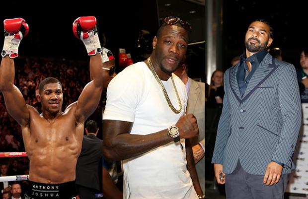 Anthony Joshua Deontay Wilder David Haye