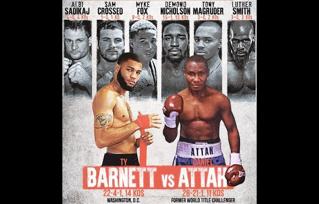 Ty Barnett  vs Daniel Attah