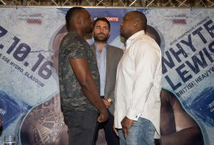Both men come head to head at a feisty press conference.