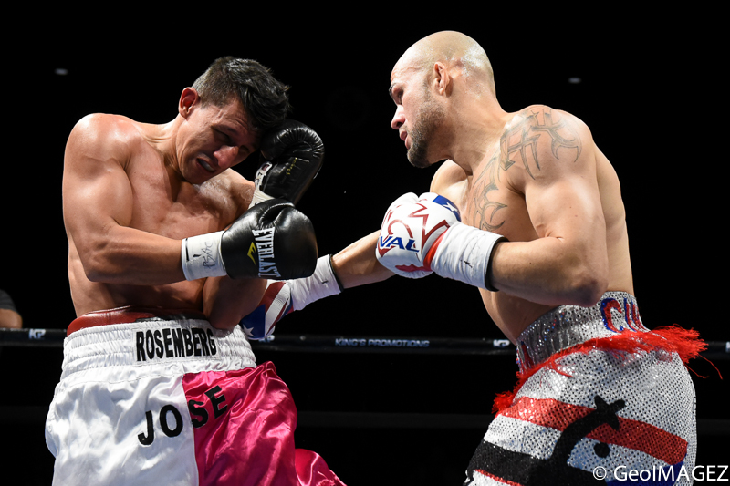 Cintron connects with a right hook to the body – Photo by GeoIMAGEZ Photography