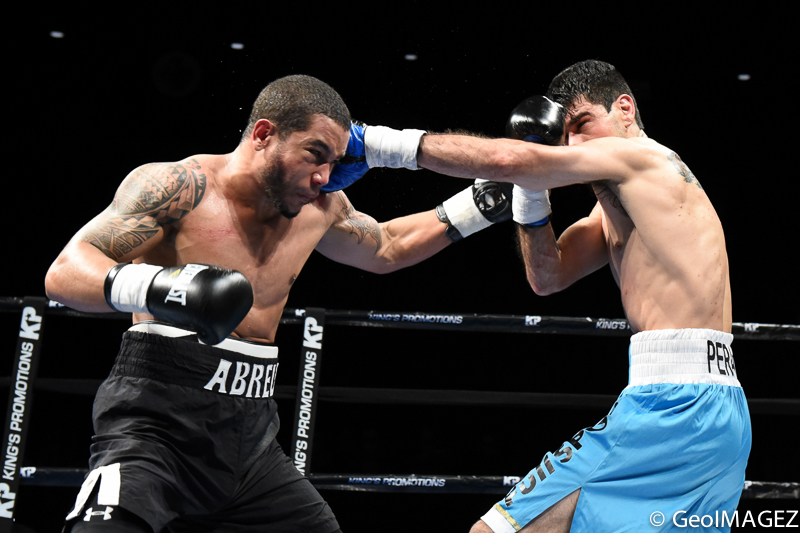Abreu/Peralta trade punches – Photo by GeoIMAGEZ Photography