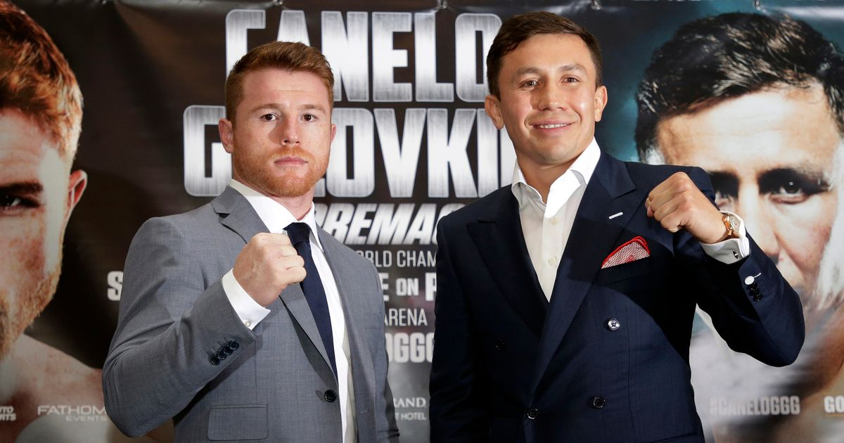 Canelo-Alvarez-and-Gennady-Golovkin-pose-after-the-press-conference