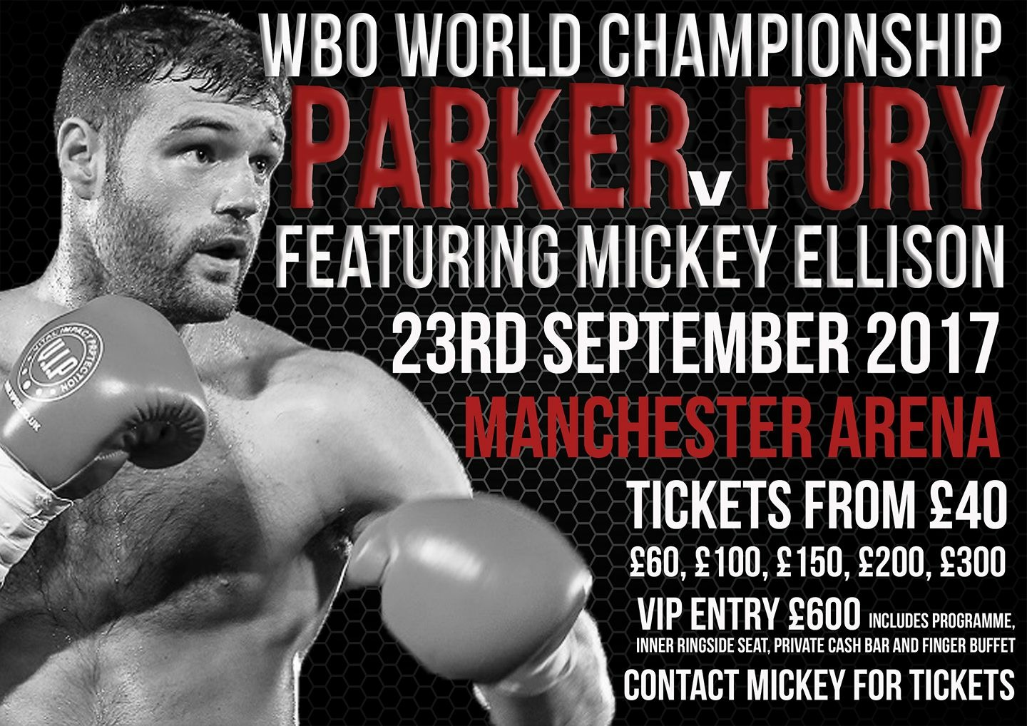 Mickey Ellison Fight Poster Sept 23