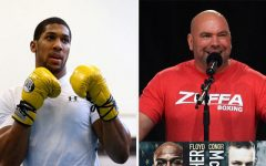 Dana White and Anthony Joshua