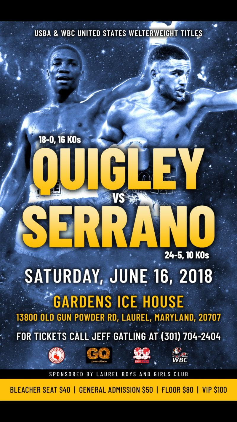 Gerome Quigley battles Raymond Serrano