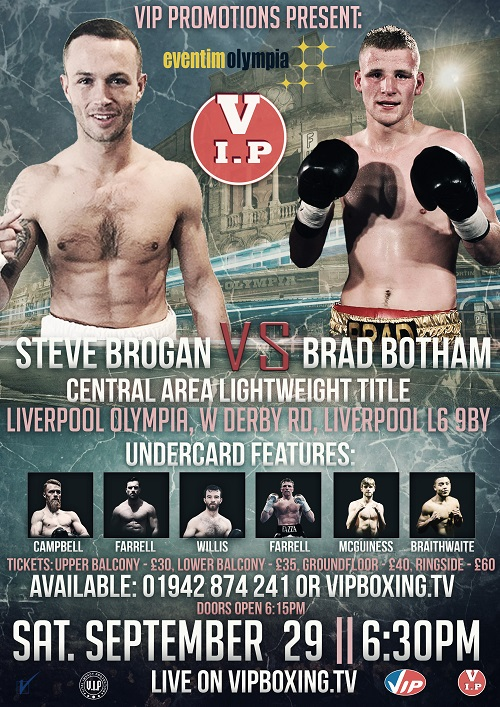 Brogan v Botham Fight Poster