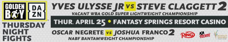 Yves Ulysse Jr vs STEVE CLAGGETT