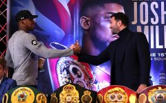 Anthony Joshua Eddie Hearn belts Getty Images