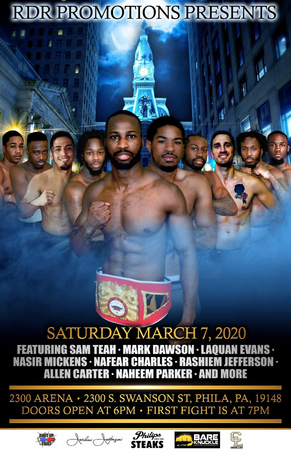 RDR Promotions Fight Card