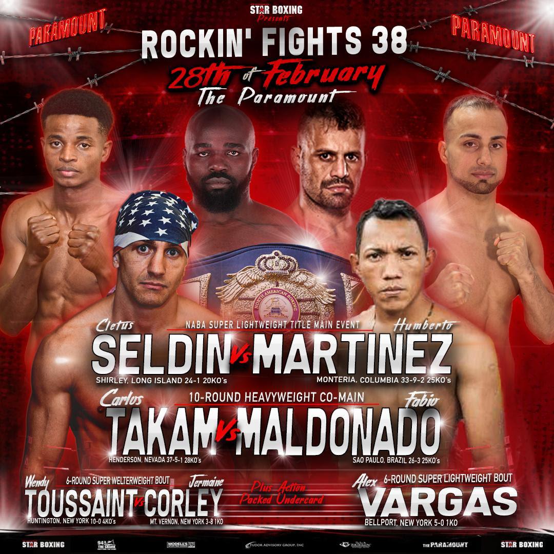 """Rockin' Fights"" 38 double main event of hometown hero"