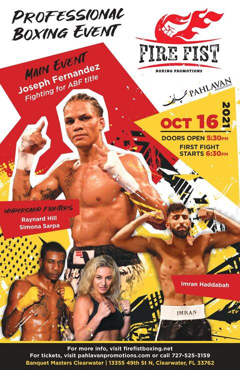 Fire Fist Boxing Promotions Returns October 16
